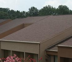 A roof showing the roofing contractor services of Petti Construction in Sharon Center, OH